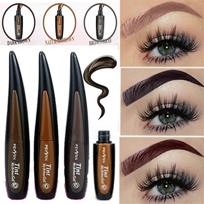 Henna Brown Peel-off Tattoo Eyebrow Tint Eyebrow Gel Brown Paint Waterproof NEW