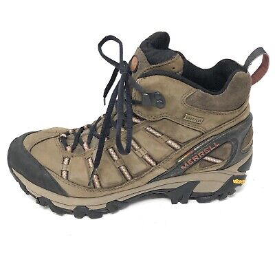 4e5a3b47 MERRELL OUTLAND MID Waterproof Mens Boots Hiking Brown Size 11 ...