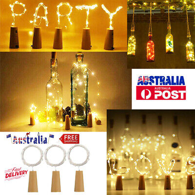 10 20 LED Cork Copper Wire Fairy String Lights Wine Bottle For Party Decor Gift