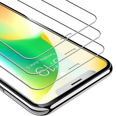 3-Pack for iPhone 6 7 8 X XR XS MAX Screen Protector UNBREAKcable Tempered Glass