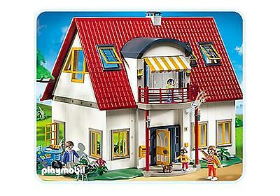 Genial Lot Jouet Playmobil Grande Villa Moderne Personnage Barbecue 100% Complet  4279