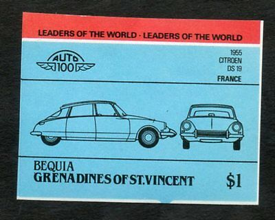TIMBRE GRENADINE ( stamp ) Neuf CITROEN 1955 DS 19 FRANCE Leaders of the Worlds