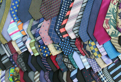 Job Lot Bulk 100 Mixed Polyester Wholesale Neck Ties Modern Vintage Crafts