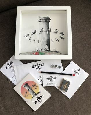 Banksy Walled Off Hotel Box Set with original receipt, postcards and other extra