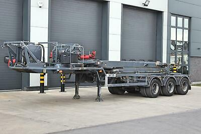 2005 HTS Tri Axle 20ft ISO Container Mover Trailer. BPW Axles. Disc Brakes.