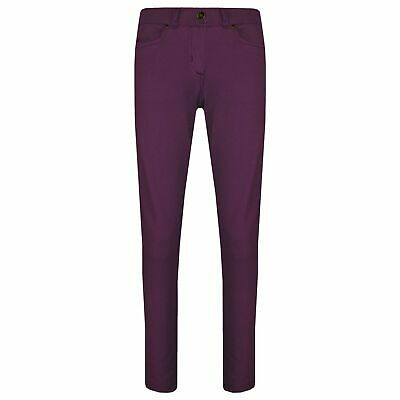 Kids Girls Skinny Jeans Purple Stretchy Denim Jeggings Fit Pants Trousers 5-13 Y