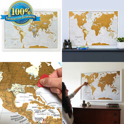 Maps International Scratch The World Travel Map – Off Poster – Most Detailed...