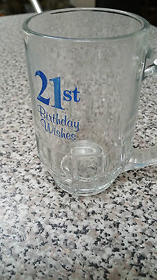 Wonderful 1/2 pint 21st birthday glass