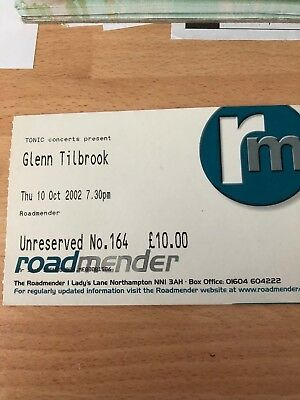 Used  Glenn Tilbrook Ticket 2002