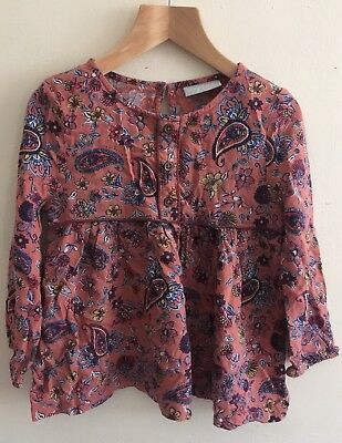 Matalan Age 5 Years Pink Floral Gypsy Blouse Top