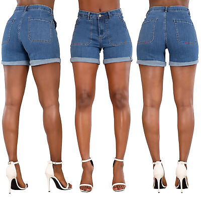 Women Sexy  Lace Shorts Ladies Summer Stretch Jeans Hot Pants Size 6 8 10 12 14