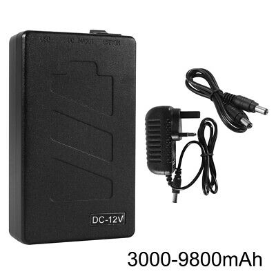 5V/12V 3000-9800mAh USB Rechargeable Lithium Ion Battery Power Bank + UK Charger