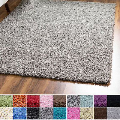 X Large Thick Plain Soft Shaggy 5 cm PILE Rug Living Room Bedroom Floor Carpets