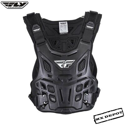 Fly Racing Revel Adult Chest Protector Black Motocross Enduro Body Armour