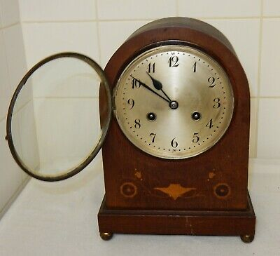 Antique Vintage Junghans Dome Topped Mahogany Mantle Bracket Clock
