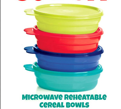 Tupperware Impressions Microwave Reheatable Cereal bowls - set of 4