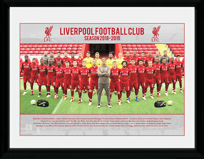 Liverpool Team Photo 18/19 Framed Photographic Print 30.5x41cm|16x12 inches