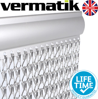 Genuine Vermatik® Metal Fly Screen Door Curtain Aluminium Chain Blind Insect