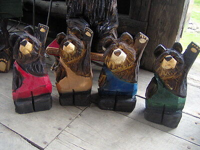 Chainsaw Bear Carving Wood Carved Bear Black Bear Carving Overalls