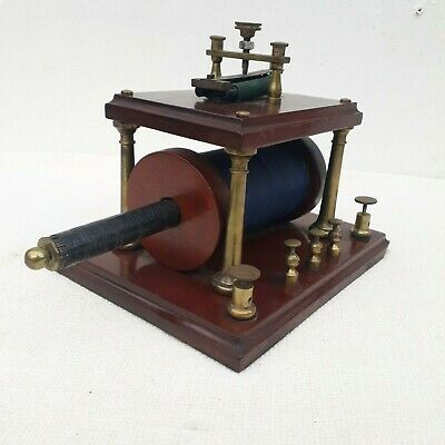 EARLY ANTIQUE MEDICAL ELECTRIC MACHINE MAHOGANY & BRASS 19thC GROVE BRISTOL