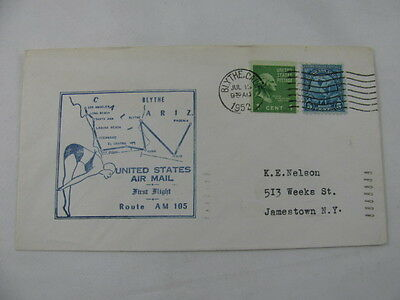 FFC Flight USA Route AM 105 Diving George Washington Blythe Los Angeles 1952