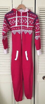 Girls all in one size 13-14 years pink nordic pattern