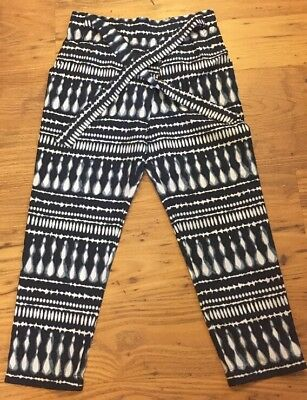 Girls lightweight Trousers Blue White Patterned Size 4-5 Years F&F M119