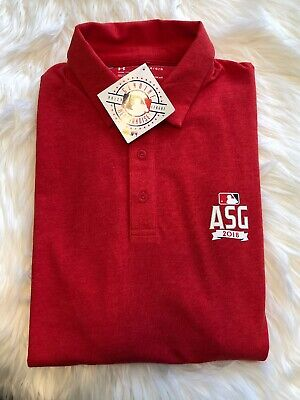 a9e00962b Under Armour NWT Red Polo Shirt MLB 2018 All Star Game Washington, DC, Size