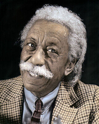 "GORDON PARKS AFRICAN AMERICAN AUTHOR PHOTOGRAPHER 8x10"" HAND COLOR TINTED PHOTO"