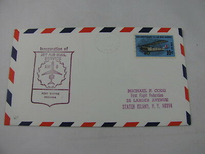 FFC First Flight Cover USA America Route AM 8 Plane Fort Wayne Atlanta 1968