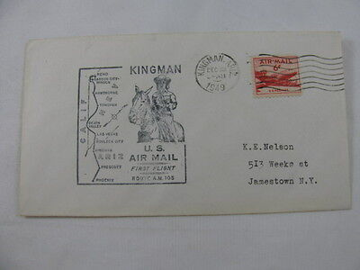 FFC First Flight U.S. Air Mail Route A.M. 105 Plane Kingman Phoenix Arizona 1949