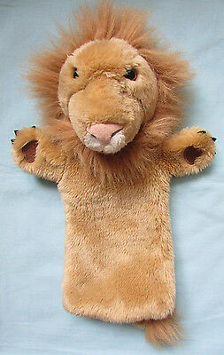 Fab *lion* Plush Soft Toy Hand Puppet With Tail - The Puppet Company