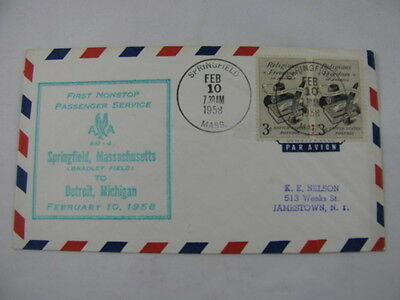 FFC Flight Route AM 4 Book Hood Feather Pen Springfield Detroit Michigan 1958
