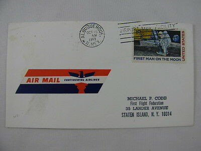FFC Flight Continental Airlines Moon Astronaut Albuquerque San Francisco 1969