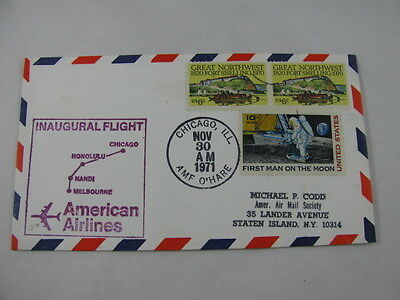 FFC Flight American Airlines Man Moon Astronaut Fort Boat Chicago Melbourne '71