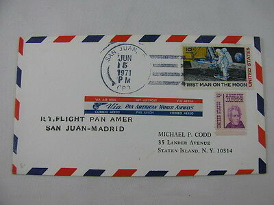 FFC Flight Spain Pan American World Airways Moon Andrew Jackson San Juan Madrid