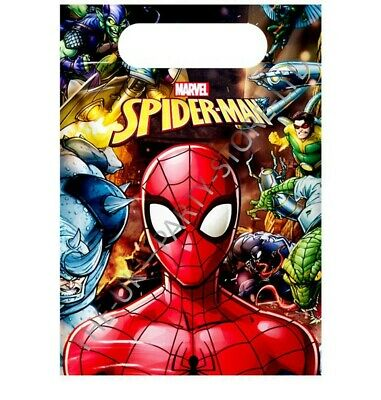 SPIDERMAN TEAM UP PARTY LOOT BAGS Birthday Party Favour Supplies Gift Pack Kids