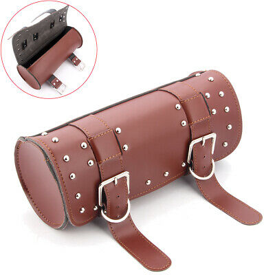 Universal Motorcycle Front Fork Tool Bag Pouch Luggage Saddle Bag PU Leather