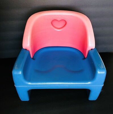 Vintage Fisher Price 1990 Grow With Me Model 9118 Heart Baby Chair Booster Seat