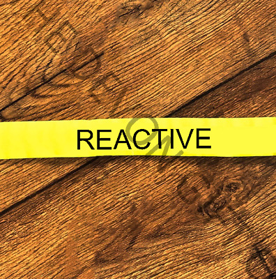 "Reactive Dog Lead Slip Nervous Rescue Dog Banner 1"" Collar Yellow Warning"