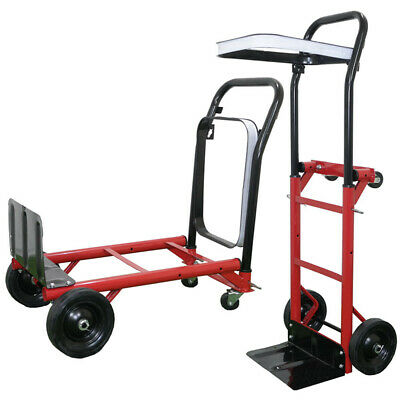 Folding Hand Sack Truck Trolley Industrial Heavy Duty Pneumatic Tyres 80KG Load