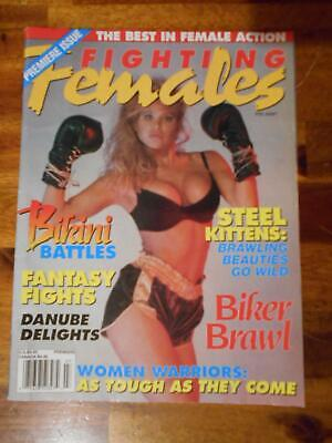 FIGHTING FEMALES WRESTLING muscle magazin/RAYE HOLLITT Fall - $16 99