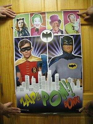 Batman Plakat Burt Ward Adam West Burgess Meredith Julie Newmar