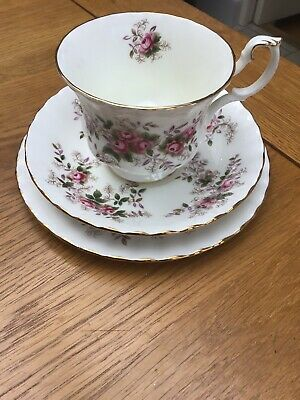 Royal Albert Lavender Rose Teacup , Saucer & Small Plate