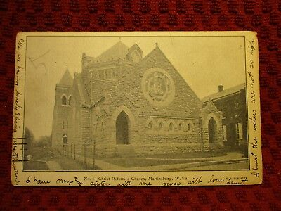 1907. Martinsburg, West Virginia. Christ Reformed Church. Postcard D9