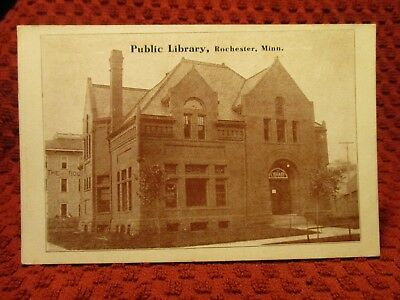 Early 1900'S. Rochester, Minnesota. Library. Postcard K6