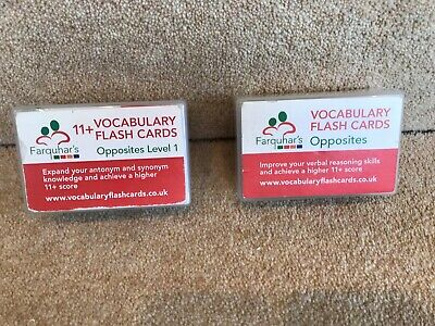ELEVEN PLUS VOCABULARY Flash Cards - £9 00 | PicClick UK