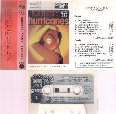 JOHNNY and The Hurricanes DIFFICULT SPANISH CASSETTE paper label SPAIN