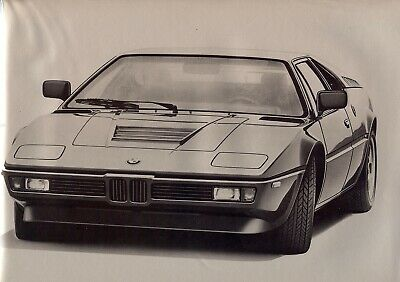 "B.M.W. ""M 1"" - 3453 cm³ - Supercar - 1978 - French sales brochure, prospekte"