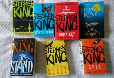Stephen King Paperback Collection, Used But Very Good Condition, Seven Novels
